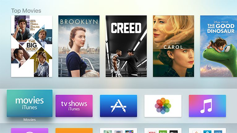 Apple TV App Store的主页。