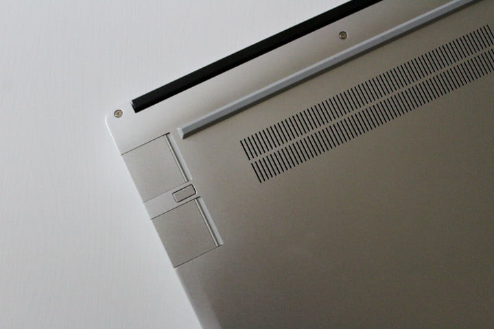 The ports of the Framework Laptop, with two Expansion Cards plugged in.