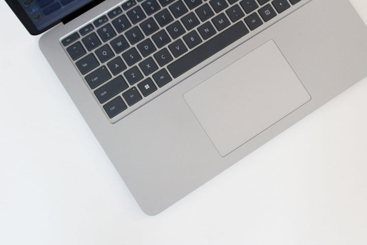 A top down view of the keyboard of the Surface Laptop Studio.